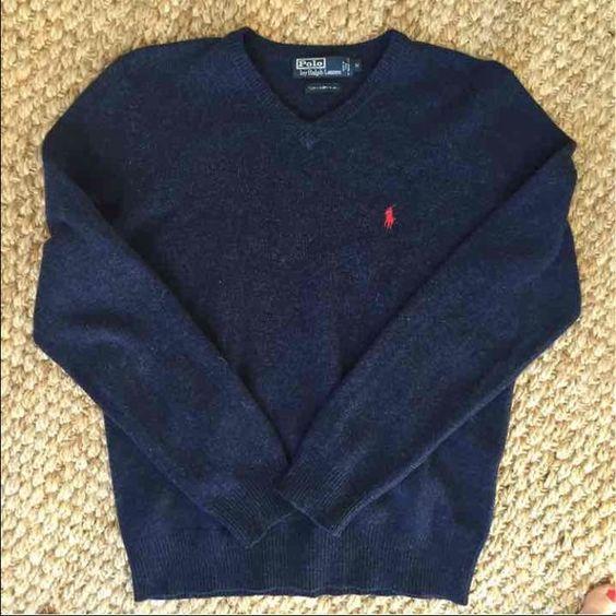 Ralph Lauren sweater Men's Ralph Lauren sweater in like new condition. Size medium. 100 percent lambswool. Ralph Lauren Sweaters V-Necks