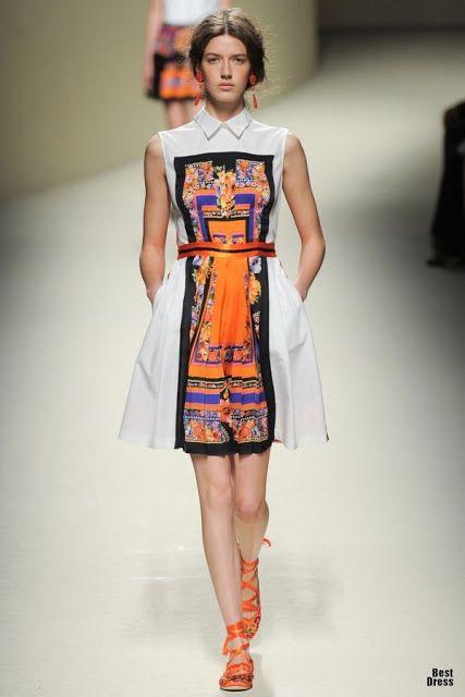 ¿Que vestidos de moda usar en primavera?   Colección de vestidos Alberta Feretti