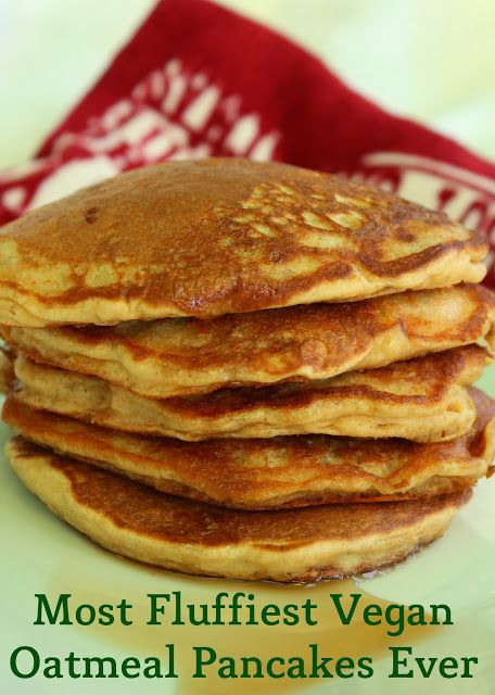 Most fluffiest vegan oatmeal pancakes ever step by for Recipes for pancakes sweet and savory