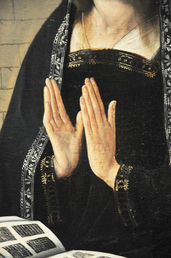 The Annunciation (detail), ca. 1500, Juan de Flandes