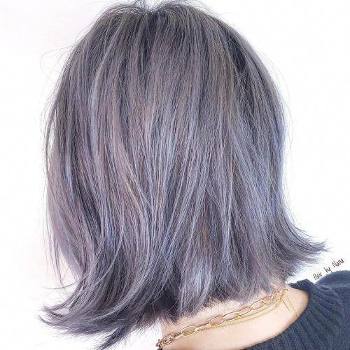 41 Top Shoulder Length Hairstyles For Black Women In 2019 In 2020 Lavender Hair Lavender Hair Colors Shoulder Length Hair