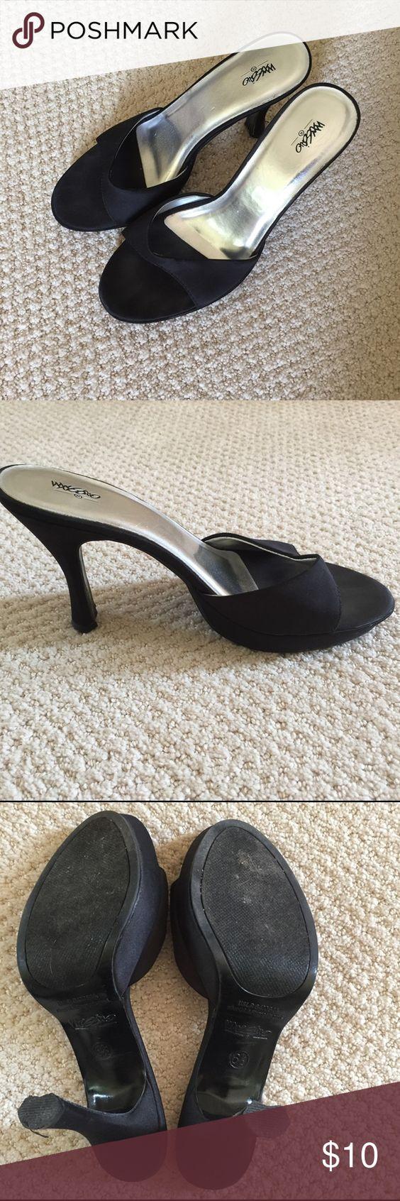 Mossimo black kitten heels Mossimo black kitten heels in good condition. mossimo Shoes Heels