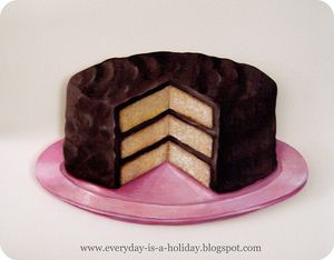 Image of JUMBO Chocolate Layer Cake wood diecut