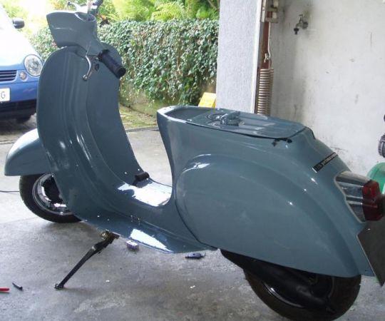 Vespa Farben RAL 7031 Blaugrau