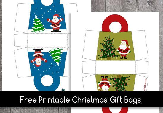 Free Printable Christmas Gift Bags Free Printable Christmas Gift Cards Free Christmas Printables Printable Christmas Gift Card