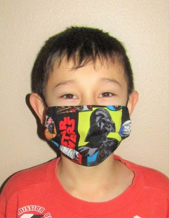 CHILD FACE MASK for 9-13yrs...for Flu Prevention / Pollen Dust Seasonal Allergy / Pet Hair Dander /