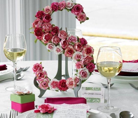 Tutorial   Letras decorativas com flores artificiais