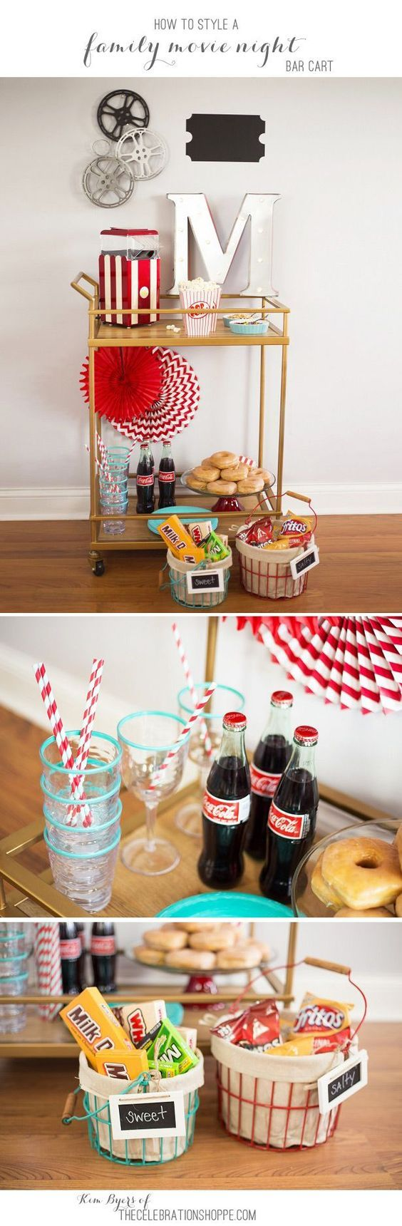 Weekly Family Movie Night & How To Style A Bar Cart