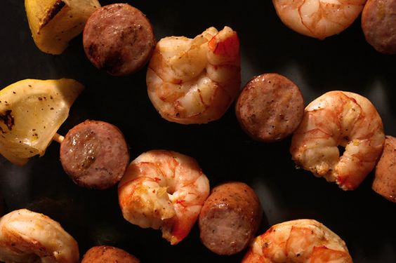 Grilled Shrimp-Boil Skewers