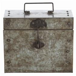 Ronan Large Hinged Box by Arteriors #galvanized