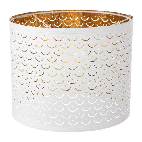 NYMÖ white, brass colour, Lamp shade