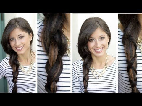 easy easy criss cross braid. looks so nice and different from a regular braid!