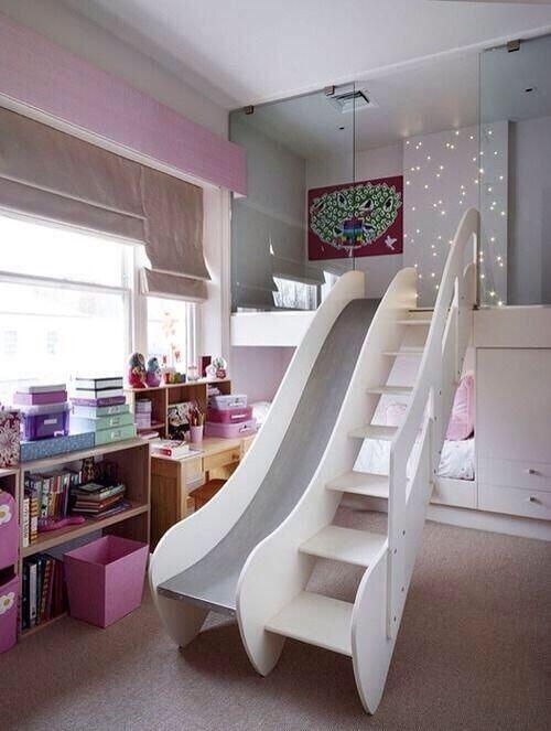 Coolest Kids Room Ever A Slide Remodel Bedroom Bedroom Design