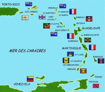 Caribbean Sea Map Postcard Caribbean Sea Caribbean And Bon Voyage - Map of carribean islands