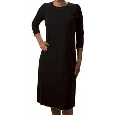 Long Swimdress (Black- Knee-Length) - Swim Dresses - Ladies ...