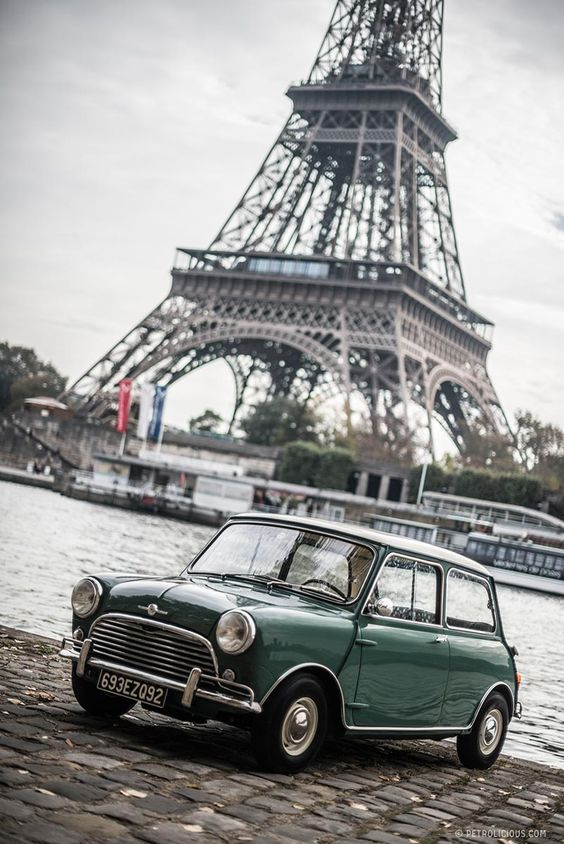 Morris Mini Minor and Eiffel Tower  #RePin by AT Social Media Marketing - Pinterest Marketing Specialists ATSocialMedia.co.uk