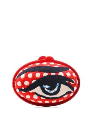 Eggzy eye embroidered clutch | Sarah's Bag | MATCHESFASHION.COM US