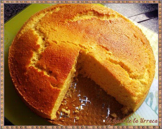 El Baúl de la Urraca: Bizcocho de claras y naranja (bajo en calorías) / Orange cake with egg whites (light)