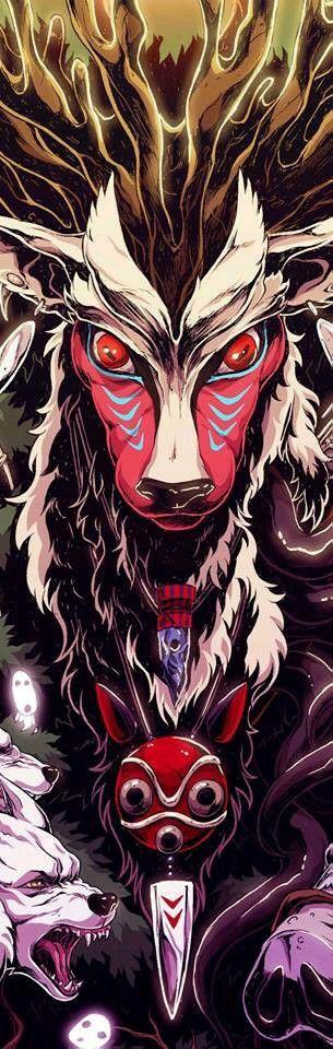 もののけ姫のシシガミ様の画像