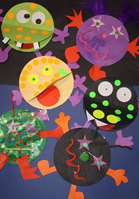 """Kids Love Craft: Monster Mayhem  Create """"diversity"""" monsters to learn about respecting differences."""