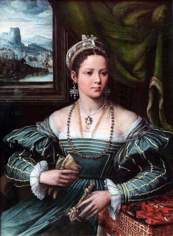 Pieter de Kempener, also Pedro Campana (1503-1586) — Portrait of Lady, 1527-1537 : Städel Museum, Frankfurt. Germany (3485x4752)