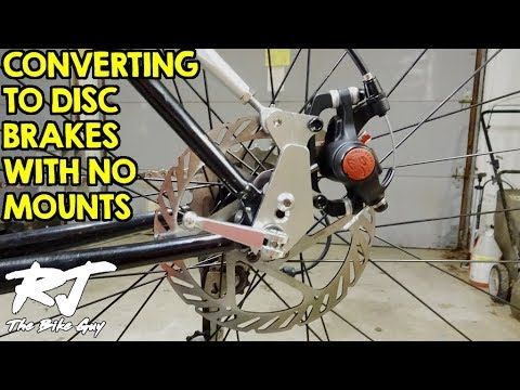 154 Convert Mountain Bike To Disc Brakes With No Frame Fork