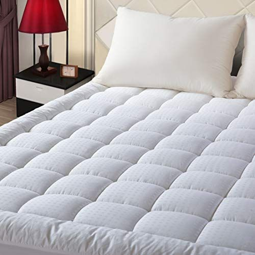 Easeland Queen Size Mattress Pad Pillow Top Mattress Cover Quilted