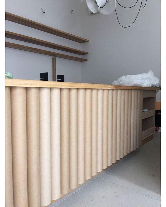 #ZROBYM_LIFE  Прыдумалi барную стойку з кардонных трубак - танна і злосна :) ______________________________________________  We have designed a bar made of cardboard tubes, cheap and good idea:) #ZROBYMarchitects #interiordesign #workinprogress #Belarusdesign