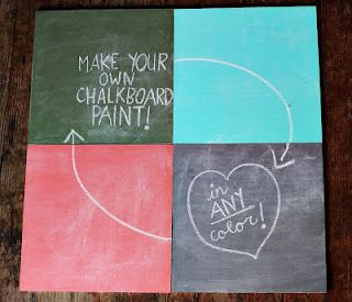 Make your own chalk board paint.