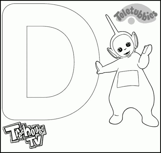 teletubbies para colorear - Teletubbies Dipsy Coloring Pages
