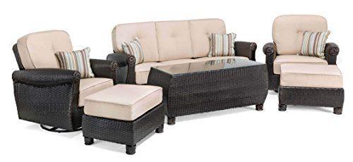 Lazboy Outdoor Breckenridge 6 Piece Resin Wicker Patio Furniture Conversa Patio Furniture Conversation Sets Resin Wicker Patio Furniture Wicker Patio Furniture