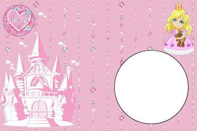 Princesa (Não Disney) - Kit Completo com molduras para convites, rótulos para guloseimas, lembrancinhas e imagens!