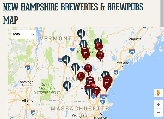 new hampshire brewery map Beer Your Way Around Nh Conway New Hampshire New Hampshire new hampshire brewery map