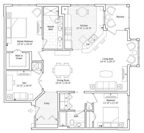 The Farnsworths Bungalow Might Be Laid Out Something Like This Except The Bedrooms Are Adjoining Floor Plans Senior Living Senior Living Communities