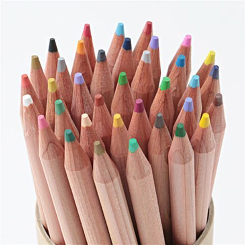 Muji Moma Natural Wood Axis Color Pencils 36 Colors Set In Paper