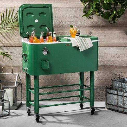 77qt Centennial Rolling Cooler Green Hearth Hand With Magnolia Rolling Cooler Hearth Hand With Magnolia Decor