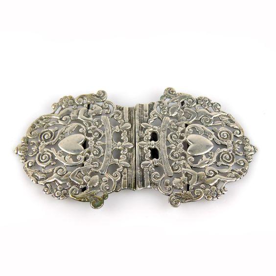 Pasarel - Victorian Sterling Silver Nurses Belt Buckle, William Francis Garrud, London, 1892. $250