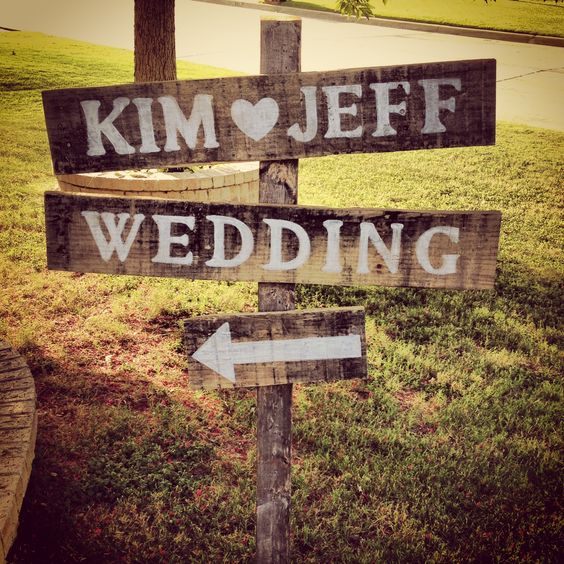 Rustic Wedding Sign! The outdoor sign would look wonderful in your new home.  Stone Manor Bridal in Grafton, Wi has friendly, personal service, gorgeous gowns and amazing prices! Visit our website to learn more: www.stonemanorbridal.com Come for your bridal consultation in our beautiful new store! For ideas including a large selection of wedding & bridesmaid dresses, see the Pinterest Boards by Stone Manor Bridal (Grafton, Wi).