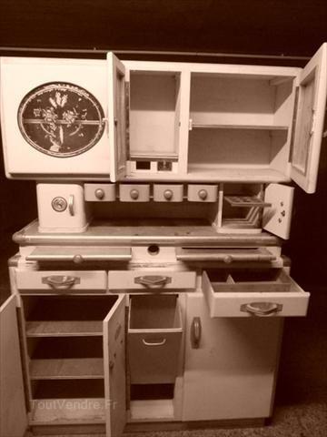 Ancien buffet de cuisine-huche à pain années 40/50 2
