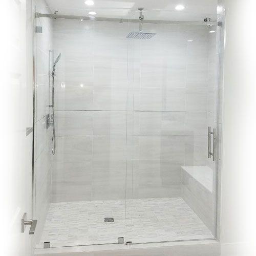 Modern Frameless Sliding Glass Shower Door High Quality 3 8 10 Mm Thick Ansi Certified Clear Temp Glass Shower Glass Shower Doors Shower Sliding Glass Door