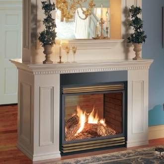 Natural gas fireplace, Brick paneling and Gas fireplaces ...