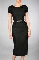 modest black dress