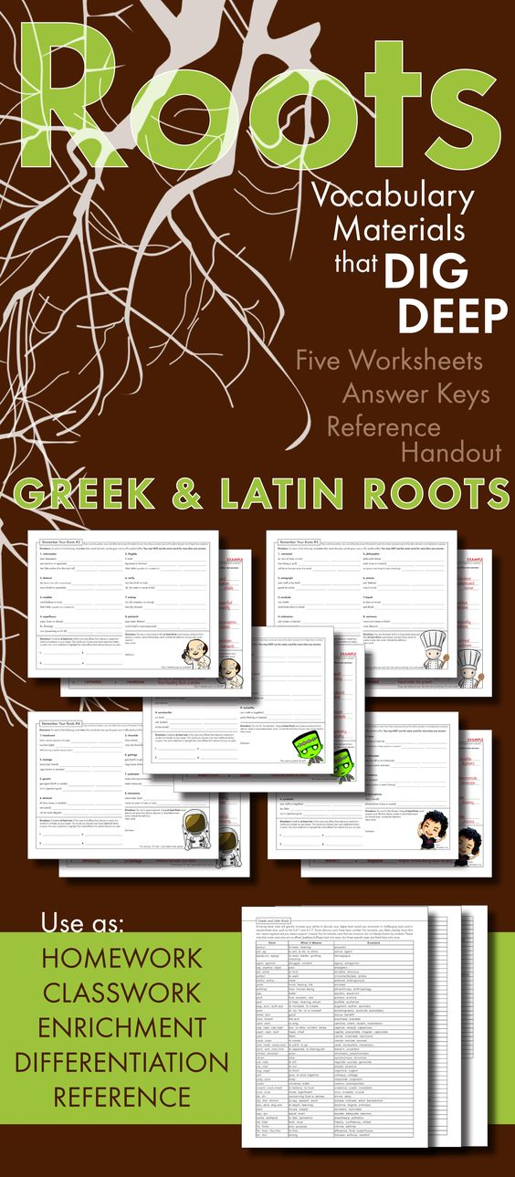 Greek and latin roots worksheets high school