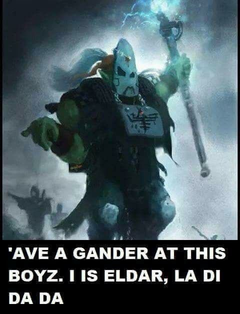 Ork Komando Weird Boy With Images Warhammer 40k Memes
