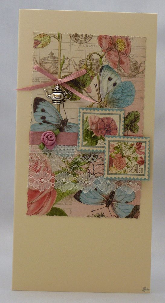 Handmade Card - In celebration of Tea £3.50