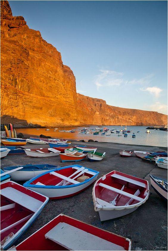 Marina Puerto de Vueltas, Valle Gran Rey, La Gomera, Canarie. Foto:  Jan Geerk