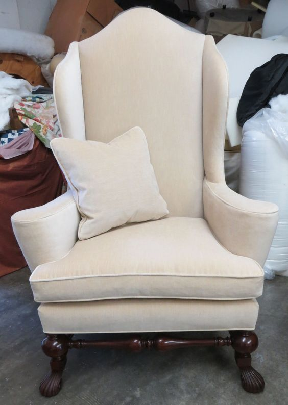 Texas Sized Baker Wing Chair w/Pillow - Totally Refurbished by WydevenDesigns on Etsy
