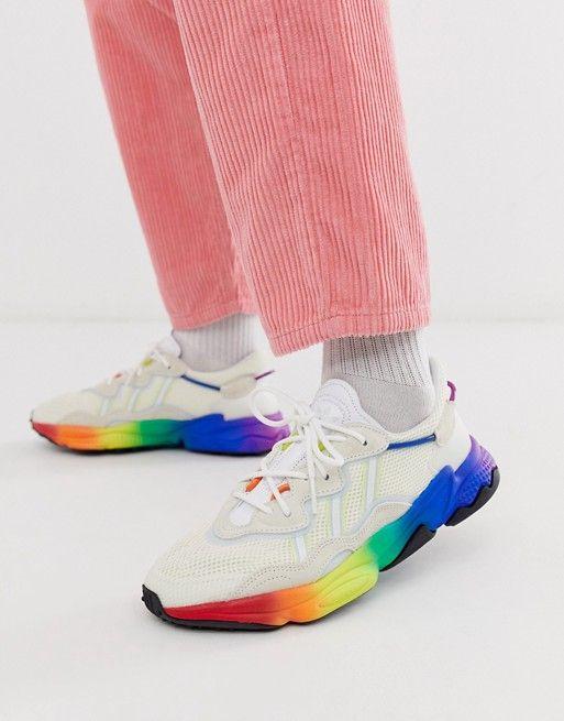 adidas Originals ozweego pride trainers in multi