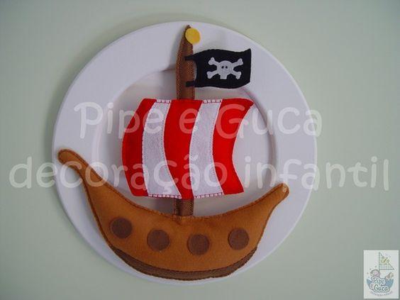 Quadro decorativo barco pirata (cód. DO 0062).