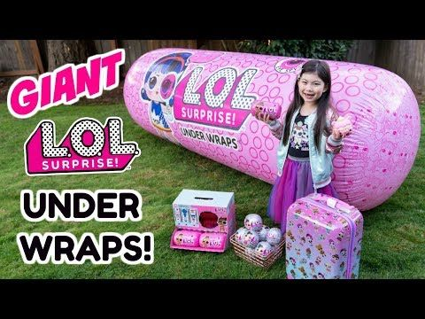 Giant Lol Surprise Under Wraps Ball Series 4 Wave 2 Eye Spy Bling Series Poopsie Surprise Unicorn Youtube In 2020 Lol Dolls Birthday Care Packages Baby Girl Toys